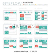 website wireframe layouts ui kits site stock vector 562257022