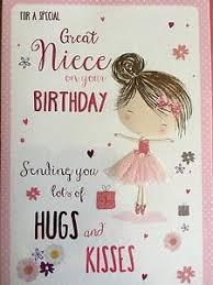 niece birthday cards great niece birthday card 5034695858801 ebay