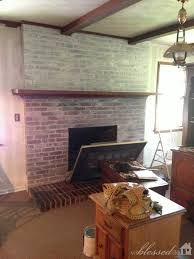 How To Whitewash Interior Brick Transform A Brick Fireplace With A White Wash Before U0026 After