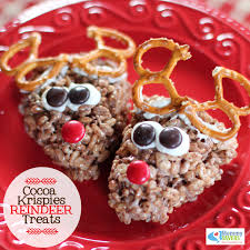 super cute rice crispy reindeer treats perfect for the holidays