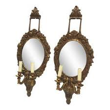 Mirror Sconce Vintage U0026 Used French Sconces And Wall Lamps Chairish