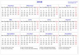 thanksgiving bank holiday 2018 calendar printable calendar 2018 calendar in multiple