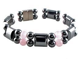 bracelet magnetic images Double hematite magnetic therapy bracelet rose quartz gif