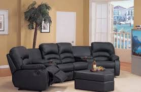 lovely curved sectional sofa with recliner interior