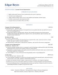 Customer Representative Resume Insurance Customer Service Resume Resume Peppapp