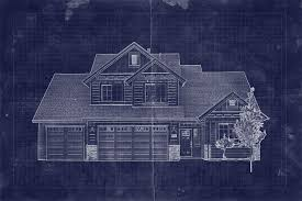 How To Make Blueprints For A House by To Create A Blueprint Effect In Adobe Photoshop