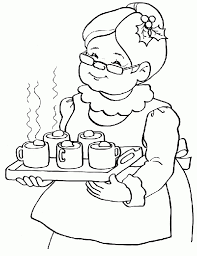 the most elegant in addition to gorgeous mrs claus coloring pages