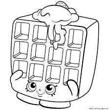 waffle sue shopkins season 2 coloring pages printable