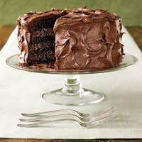chocolate buttermilk layer cake with chocolate cream cheese