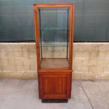 Curio Cabinet Corner Curio Cabinet Curved Glass Vintage Oak Curio Cabinet Corner