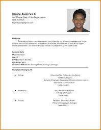 Job Resume Set Up by 100 Resume Setup Examples College Resume Format Resume Cv