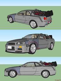 nissan skyline drawing nissan skyline r34 gt r time machine by georgetsegoev on deviantart