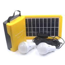 d007 multi functional 6v 20 000mah solar power home system w led