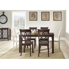 Antoinette Dining Room Set Steve Silver Aa500tbv Aida Dining Table In Brown Homeclick Com