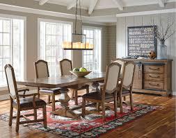 oak 7 piece dining set farmhouse american attitude collection