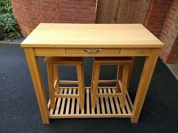 Oak Breakfast Bar Table Oak Breakfast Bar Table And Stools Set In Stoke On Trent
