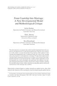 from courtship into marriage a new developmental model and