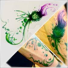 thistle design by dazzbishop on deviantart
