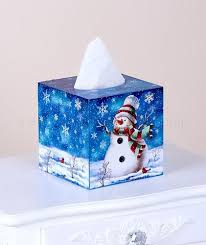 9 best images of christmas tissue box cover bathroom decor