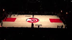 philips arena atlanta hawks 3d basketball court projection youtube