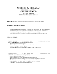 Resume Examples For Caregivers by Caregiver Objective Resume Free Resume Example And Writing Download