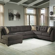 grey fabric modern living room sectional sofa w wooden legs picture of 3pc w laf chaise steel get in my cart pinterest