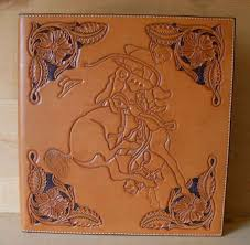 custom leather photo album mike s custom leather maker of cowboy gear and