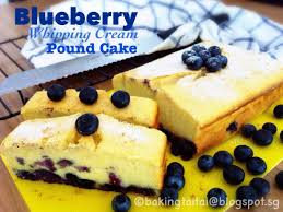baking taitai 烘焙太太 blueberry whipping cream pound cake蓝梅鲜