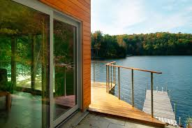 cantilevered lake house elizabeth liz herrmann vt architect