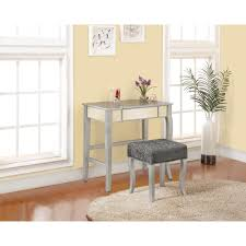 Vanity Furniture Bedroom by Linon Home Decor Harper 2 Piece Silver Vanity Set 580432sil01u
