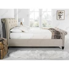 sleigh beds wayfair co uk upholstered bed king home and haus t