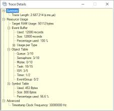 No Symbol Table Is Loaded Use The File Command Tracealyzer For Freertos Documentation Trace Recorder Library