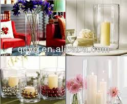 Clear Plastic Tall Vases Factory Supply Acrylic Vases Plastic Vases For Weddings Tall Cube
