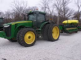 john deere 8360r with triples hooked to 31 row db60 corn planter
