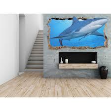 startonight 3d mural wall art photo decor friendly shark amazing