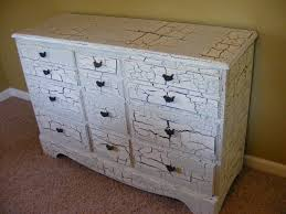 Painting Furniture White by Crackle Paint Dresser For The Home Pinterest Crackle