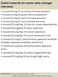 Resumes Samples by Top 8 Senior Sales Manager Resume Samples