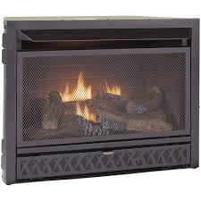 procom gas fireplace insert duel fuel technology 26 000 btu fbnsd28t the home depot