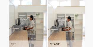 Standing Or Sitting Desk by Sandrin Leung Architecture Ergonomic Sit Or Stand Computer Desk