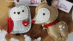 handmade 2016 felt plush ornaments tags
