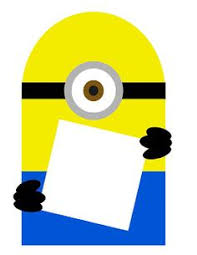 customizable despicable me minion banner pdf printable file
