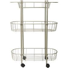 Rolling Bathroom Storage Cart by Chapter Rolling Bathroom Cart Walmart Com