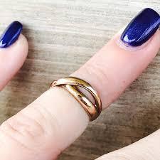 kif wedding band vintage gold or midi ring