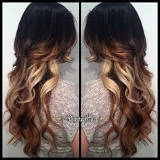 hair styles brown on botton and blond on top pictures of it 8 best highlight ideas images on pinterest hair colours human