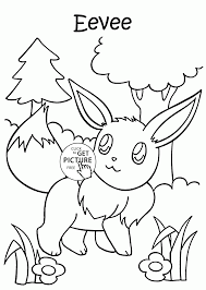pokemon eevee coloring pages for kids pokemon characters