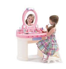 Little Girls Vanity Playset Play Vanity Sets For Little Girls Pretend Dress Up Makeup Table