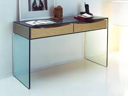 glass top sofa table espresso modern image contemporary console