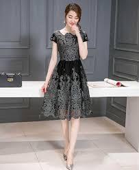 dress pesta pesta simple elegan terbaru kombinasi brokat 39a67