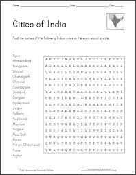 cities of india word search