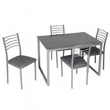 tavoli e sedie da cucina moderni set da pranzo tavolo e 4 sedie moderno in metallo e vetro colore